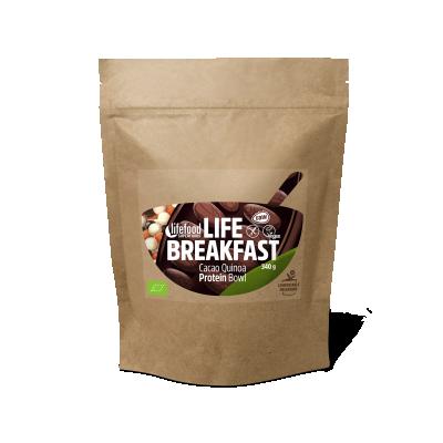 Life Breakfast Porridge Kakao Quinoa Protein ROH BIO