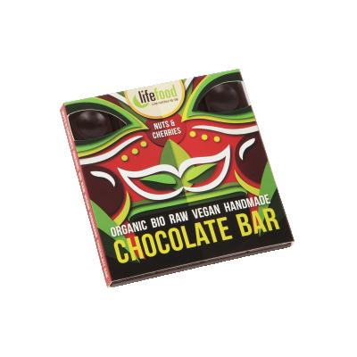 Lifefood Schokolade - Kirsche & Nuss ROH BIO 35g