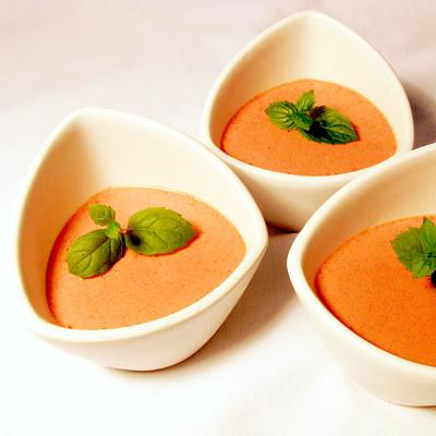 Erdbeer-Kakaobutter Dessert