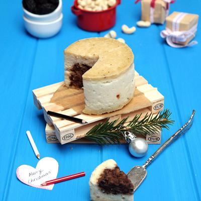 Fermentierter Rohkost-Käse mit Oliven-Herz