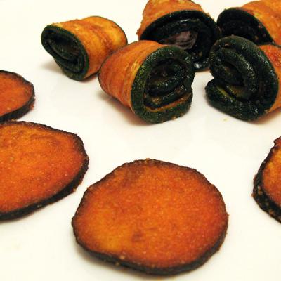 Marinierte Zucchini und Aubergine